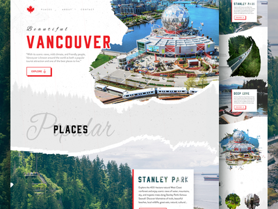 Vancouver city photoshop bc vancouver canada website web layout ui landing