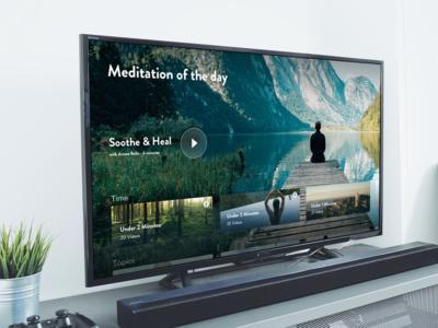 Meditation apple TV app canada vancouver heal soothe meditation television appletv ui ux