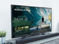 Meditation apple TV app