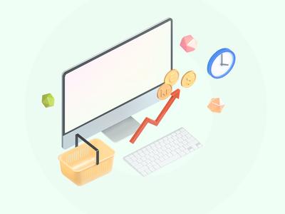 E-market 3d icon
