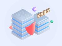 3D illustration for website