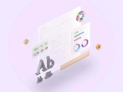 3d illustration for site