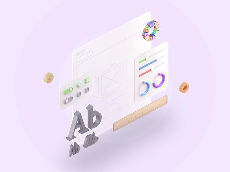 3d illustration for site ui design illustraion ico icons illustration web render 3d illustration graphic-design 3dillustration 3d icon web-design c4d arnold render