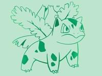 ivysaur procreate pokemon illustration