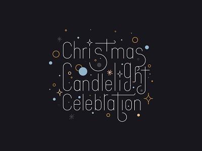 Exploration 2 | Christmas Candlelight Celebration frame border logo lock up candlelight candle gold christmas