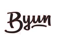 Byun Lettering / Logotype