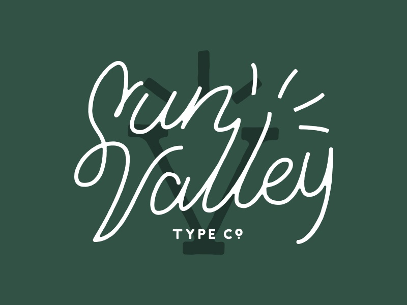 Sun Valley Lettering / Logotype typography type design lettering branding logo design logo