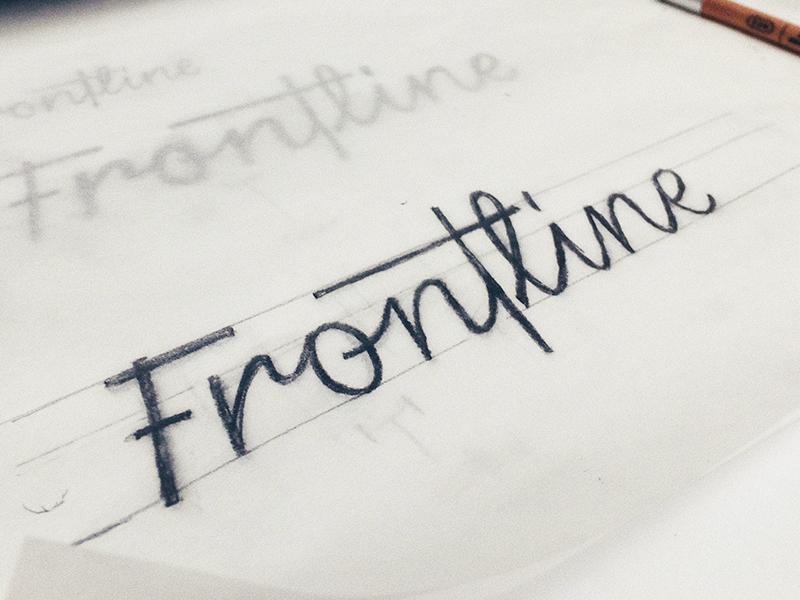 Refining Frontline Logotype branding logo design logotype logo lettering
