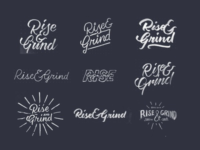 Rise & Grind Logo Sketches