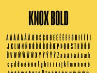 Knox bold glyphs
