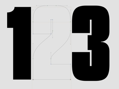 123 typography type design
