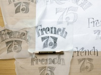 French 75 Lettering Process