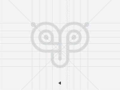 Amazing Personal Branding | Grid construction grid face infinity geometric minimal animal mark sign symbol monogram logo