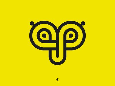 Amazing Personal Branding | Flat Version eyes letter face infinity geometric minimal animal mark sign symbol monogram logo