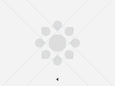 Geometric Sun | Grid graphic symmetry construction grid square geometric minimal sun circle mark sign symbol