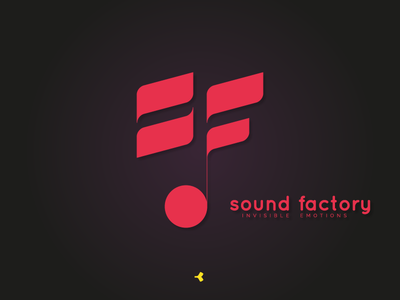 Sound Factory | Logo Concept concept sign mark sound note circle face invisible minimal monogram lettermark letter