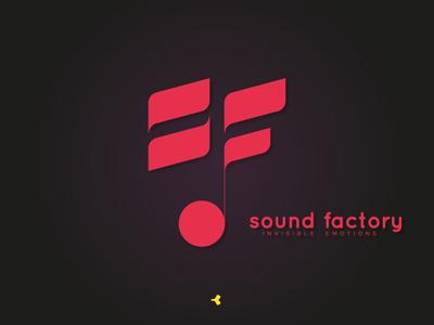 Sound Factory | Logo Concept concept sign mark sound note circle face invisible minimal monogram lettermark letter