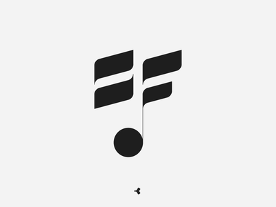 Sound Factory | Symbol Concept face sign sound note circle construction invisible minimal monochromatic monogram lettermark letter