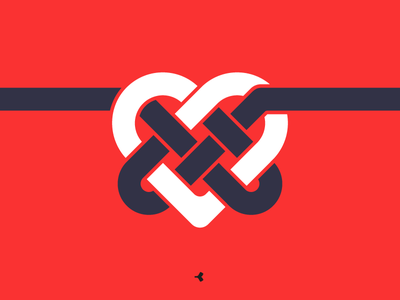 Heart Mystified | Symbol Concept infinity logo design graphic color knot interweaving minimal heart mark sign symbol
