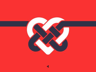 Heart Mystified | Symbol Concept infinity logo design graphic color knot interweaving minimal heart mark sign symbol