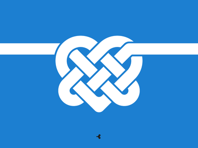 Heart Mystified | Monochromatic Version infinity logo design graphic knot mark interweaving minimal heart flat sign symbol
