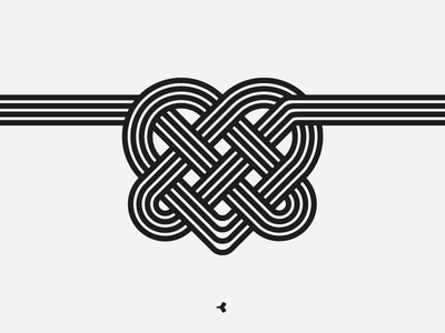 Heart Mystified | Line Version infinity logo design graphic knot line interweaving minimal heart flat sign symbol
