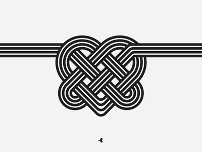 Heart Mystified | Line Version infinity logo design graphic knot line interweaving minimal heart flat sign symbol