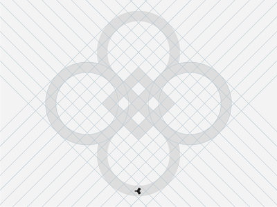 Catch the [double] Infinity #2 | Grid grid minimal fortune quatrefoil cage construction geometric mark square circle sign symbol