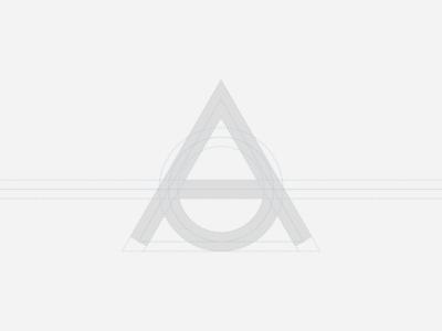 AD Anonima Design | Grid letter symbol circle monogram construction grid design graphic logo minimal mark sign