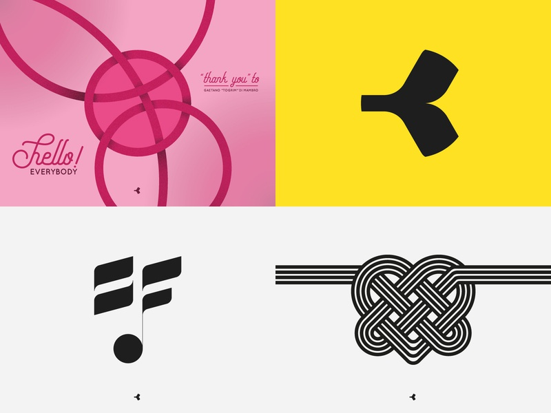 #Top4Shots2018 knot heart color interweaving letter face design graphic infinity geometric logo circle symbol mark minimal sign