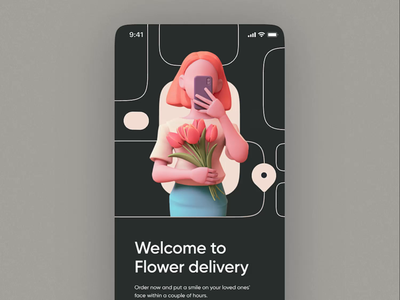 Flower Delivery Mobile App Animation stylish lush experience user-friendly service delivery flower flowers smooth sleek transitions motion design application app mobile motion animation zajno