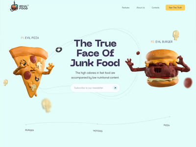 The true face of junk food - Animated 🍔 🍕 🌭 animation