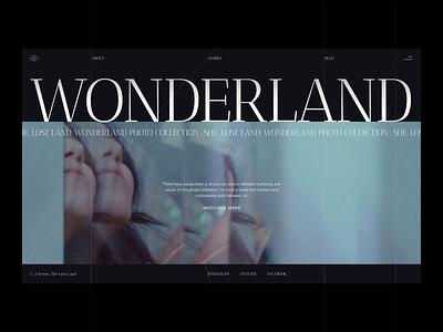 Wonderland Photo Collection wonderland aesthetic photoshoot animation smooth web design zajno motion design