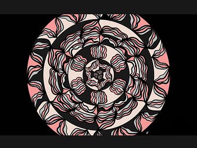 Mandala colors mandala black illustration digital illustration design art abstract