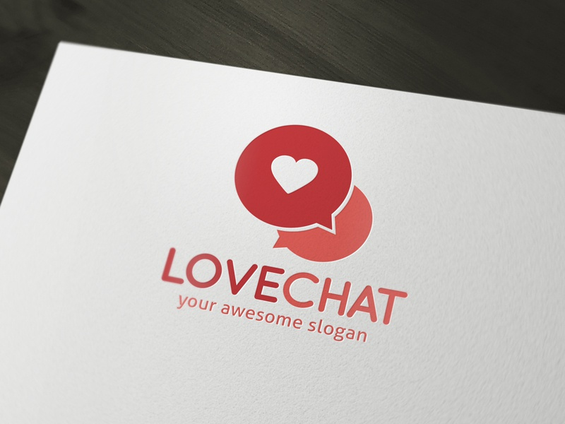 Love Chat Dating Logo Template by Alex Broekhuizen on Dribbble