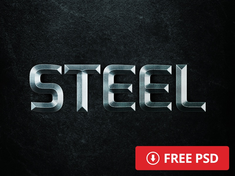 Free Steel Layer Style free freebie layer style text photoshop movie cinematic steel psd download