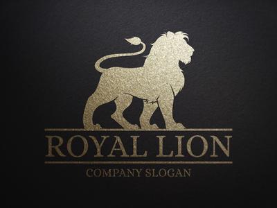 royal lion logo templatealex broekhuizen - dribbble