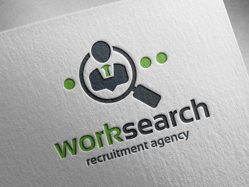 work search logo template by alex broekhuizen