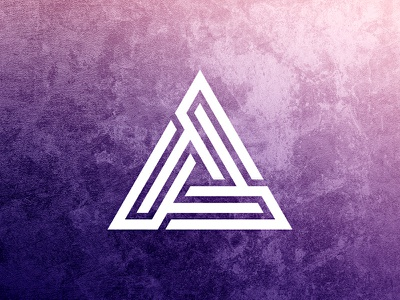 Triangle Logo Template triangle symbol symmetry logo design vector template