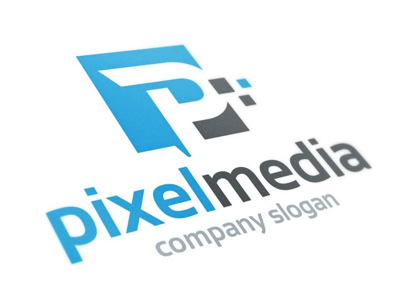pixel media letter p logo by alex broekhuizen dribbble dribbble