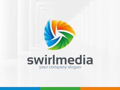 Swirl Media Logo Template