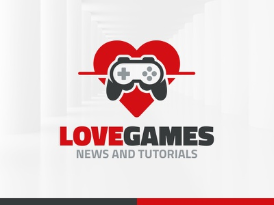 Love Games Logo Template template logo controller games game love
