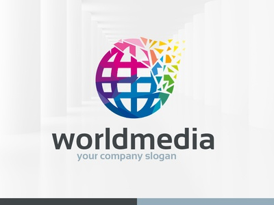 World Media Logo Template