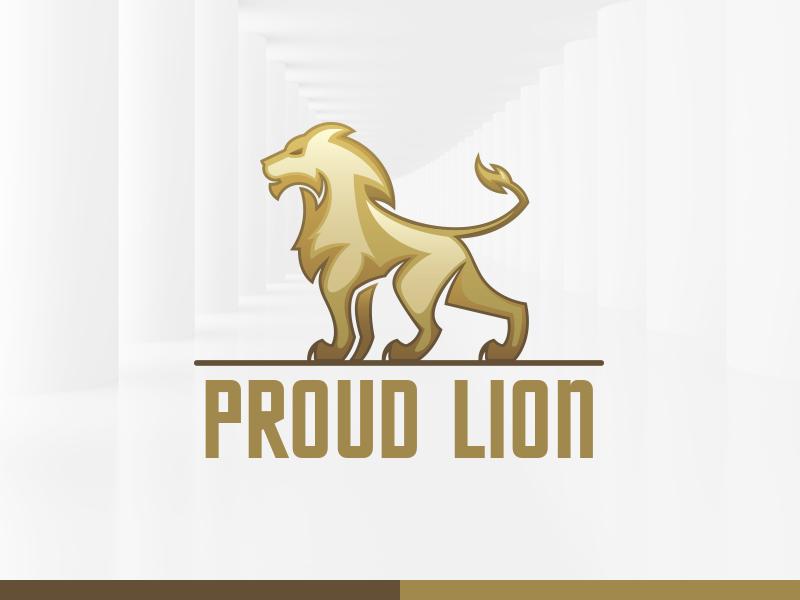 proud lion logo template by alex broekhuizen dribbble dribbble