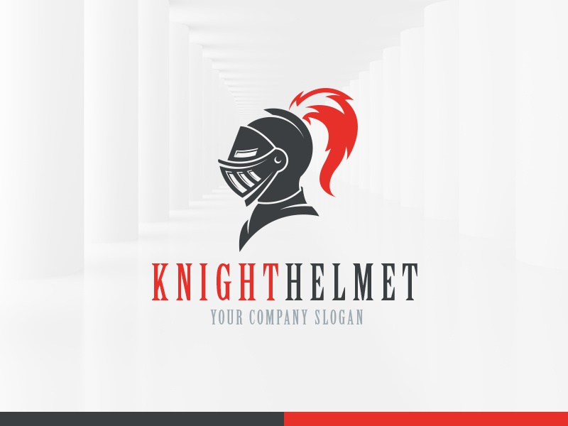 Knight Helmet Logo Template by Alex Broekhuizen - Dribbble