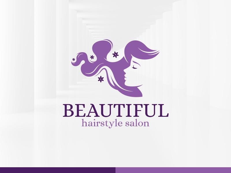 beautiful hair salon logo template by alex broekhuizen