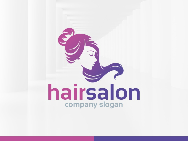 Hair Salon Logo Template logo vector silhouette woman head beauty salon hair