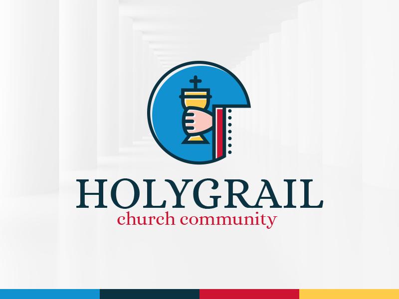 holy grail logo template by alex broekhuizen dribbble