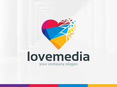 Love Media Logo Template