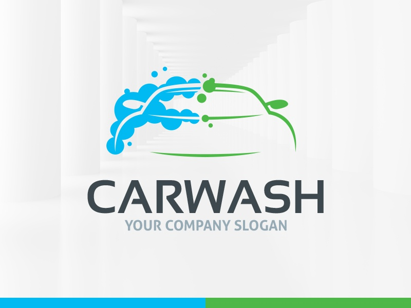 car wash logo	  Car Wash Logo Template by Alex Broekhuizen - Dribbble